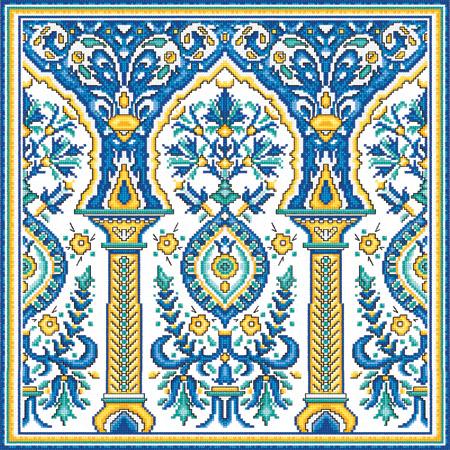 Восточный рисунок в вышивке