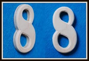 Цифры из дерева своими руками 86