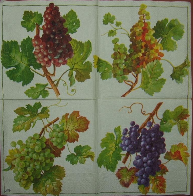 Салфетки для декупажа вино